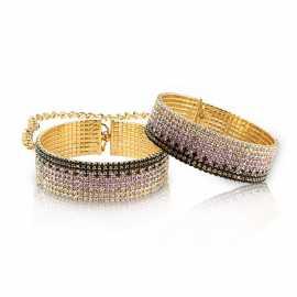 Лакшери наручники-браслеты с кристаллами Rianne S Diamond Cuffs
