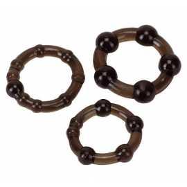 Эрекционные кольца - Cock Ring 3-Set Black