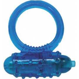 Эрекционное кольцо - Silicone Soft Cock-Ring blue m. Vibr.