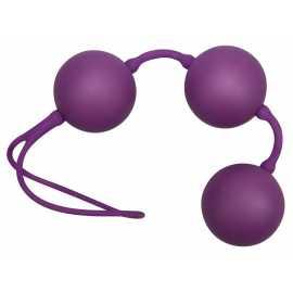 Вагинальные шарики Velvet Purple Balls, фиолетовые