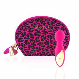 Вибромассажер RIANNE S Lovely Leopard Mini Wand Pink